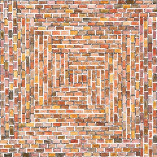 Bricks - Waterbolor on Bristol